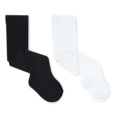 On The Goldbug™ 2-Pack Tights in Black/White