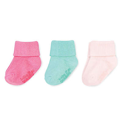On The Goldbug™ 3-Pack Socks in Pink/Mint