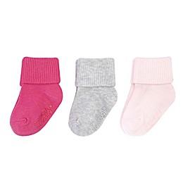 On The Goldbug™ 3-Pack Socks in Pink/Grey