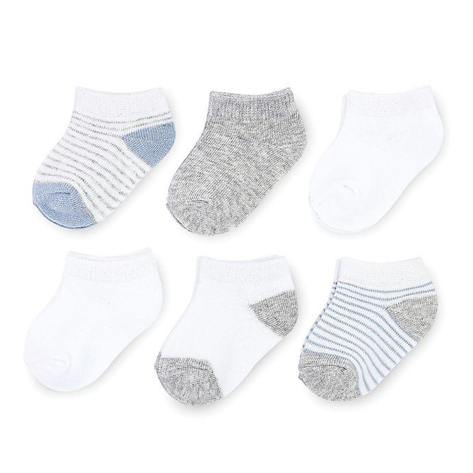 Alternate image 1 for On The Goldbug™ 6-Pack Ankle Socks in Blue
