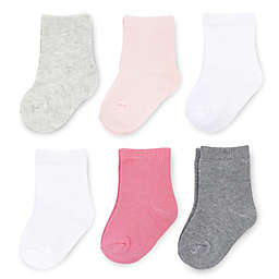On The Goldbug™ Size 0-3M 6-Pack Crew Socks