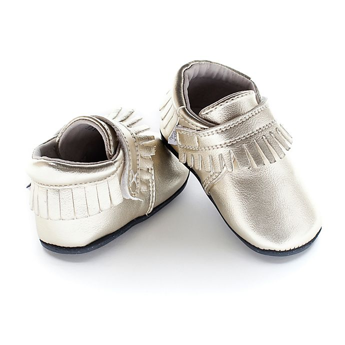 Alternate image 1 for Jack & Lily™ Size 30-36M Faux Leather Fringe Casual Shoes in Gold