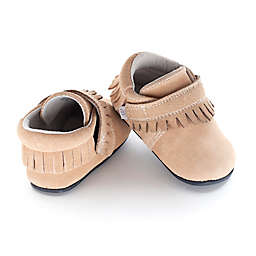 Jack & Lily™ Size 24-30M Faux Leather Moccasin Fringe Casual Shoe in Tan