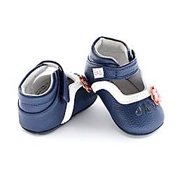 Jack & Lily™ Faux Leather Teardrop Flower Casual Shoe in Blue