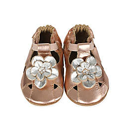 Robeez® Soft Sole Pretty Pansy Trainer Shoe in Rose Gold
