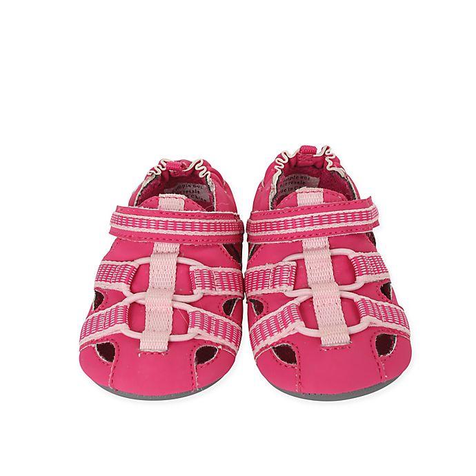 Alternate image 1 for Robeez® Mini Shoez™ Size 6 Beach Break Shoe in Hot Pink