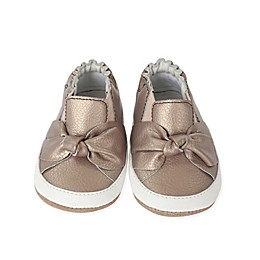 Robeez® Mini Shoez™ Bella's Bows Shoe in Bronze