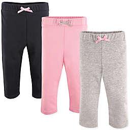 Luvable Friends® 3-Pack Leggings in Light Pink/Black
