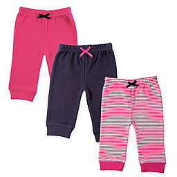 Luvable Friends® 3-Pack Pink Stripes Tapered Ankle Pants