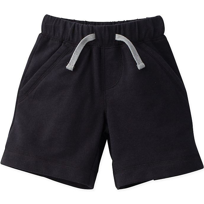 Alternate image 1 for Gerber Graduates Size 3T French Terry Short in Black