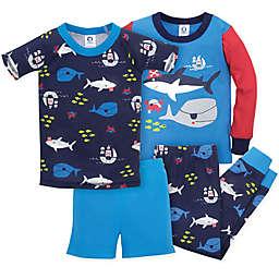 Gerber® 4-Piece Shark Pajama Set in Blue