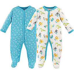 Luvable Friends® Size 0-3M 2-Pack Sleep N' Play ABCs Footies