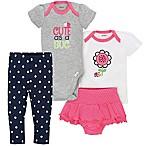 Gerber® Size 6-9M 4-Piece Ladybug Bodysuit, Shirt, Panty and Pant Set in Grey/White