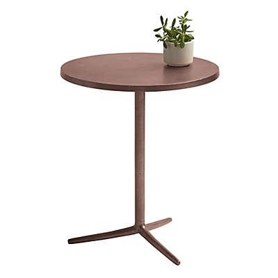 Pedestal Aluminum Side Table