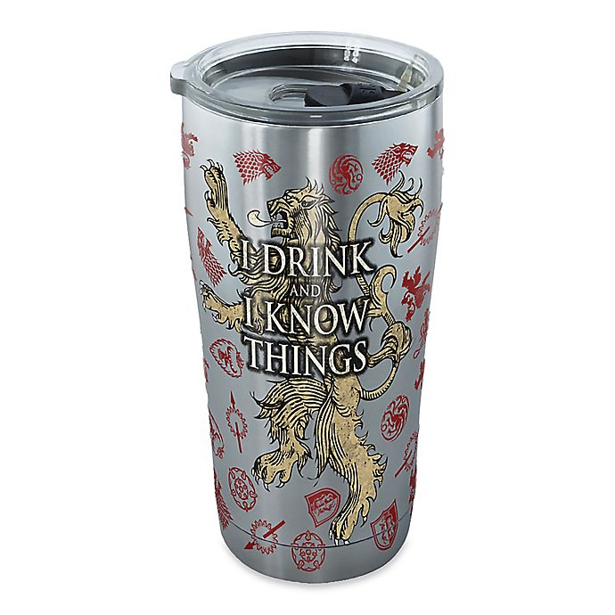 Alternate image 1 for Tervis® Game of Thrones I Drink and I Know Things 20 oz. Stainless Steel Tumbler with Lid