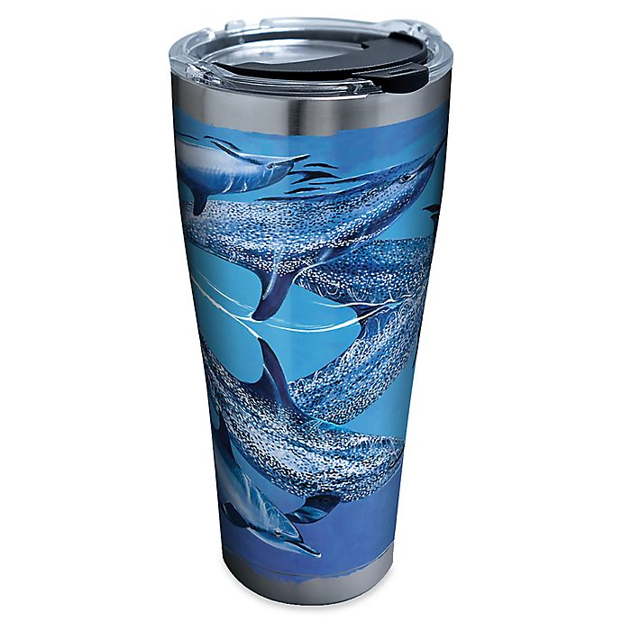 Alternate image 1 for Tervis® Guy Harvey® Dolphins 30 oz. Stainless Steel Tumbler with Lid