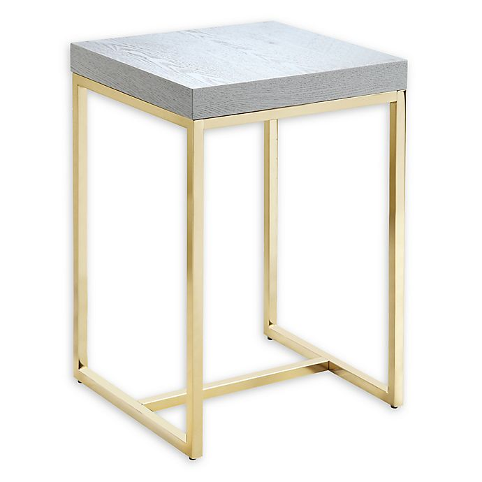 Alternate image 1 for Chic Home Ronel Side Table in Grey