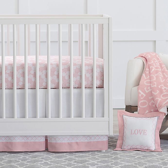 Alternate image 1 for Just Born® Dream Crib Bedding Collection in Pink/White