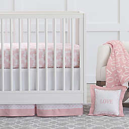 Just Born® Dream Crib Bedding Collection in Pink/White