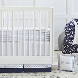 Just Born® Dream Crib Bedding Collection in Navy/Grey