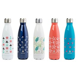 Manna™ Attribute Vogue® 17 oz. Stainless Steel Double Wall Water Bottle Collection