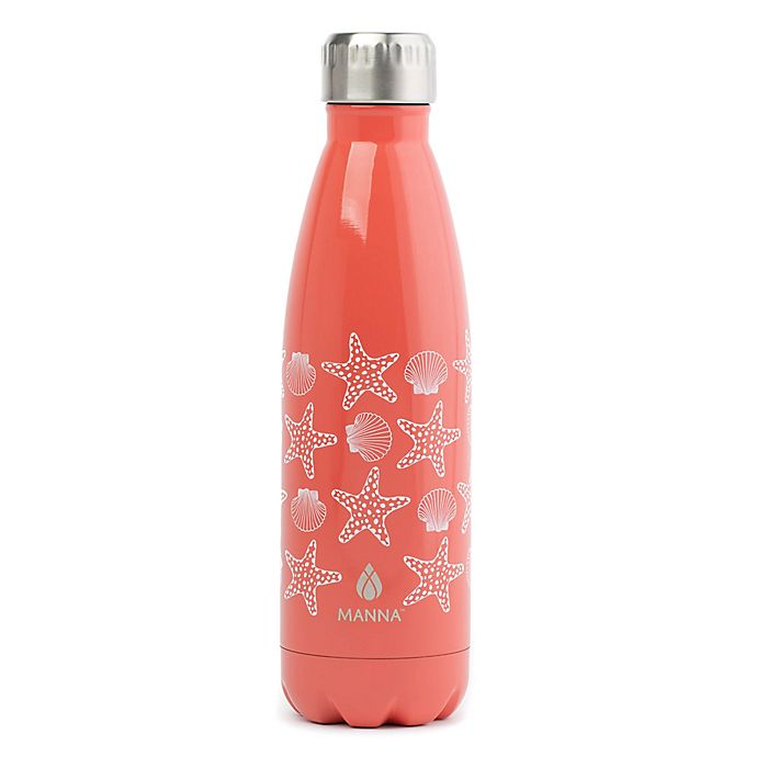 Alternate image 1 for Manna™ Attribute Vogue® 17 oz. Stainless Steel Double Wall Water Bottle in Seashells