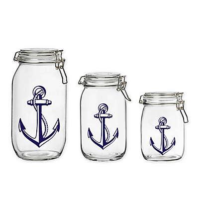 Global Amici Glass Nautical Cannister
