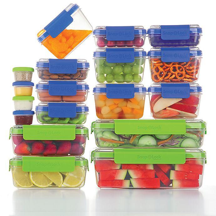 Alternate image 1 for Progressive® SnapLock™ 36-Piece Food Container Set in Blue/Green