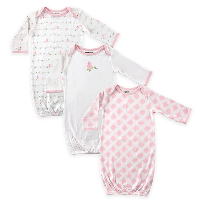 2 Pack Baby Girl Gifts Infant Gowns PREEMIE Warm Long Sleeve Mitten Cuffs Pink