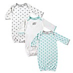 Luvable Friends® Size 0-6M 3-Pack Elephant Baby Gowns in Mint