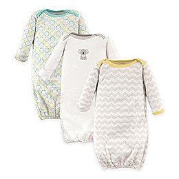 Luvable Friends® Size 0-6M 3-Pack Baby Gowns