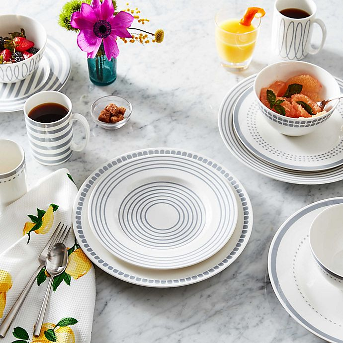 Alternate image 1 for kate spade new york Charlotte Street™ Dinnerware Collection in Slate