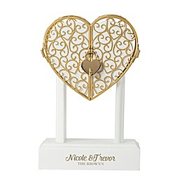 Cathy's Concepts Heart Vow Unity Keepsake in Gold/White