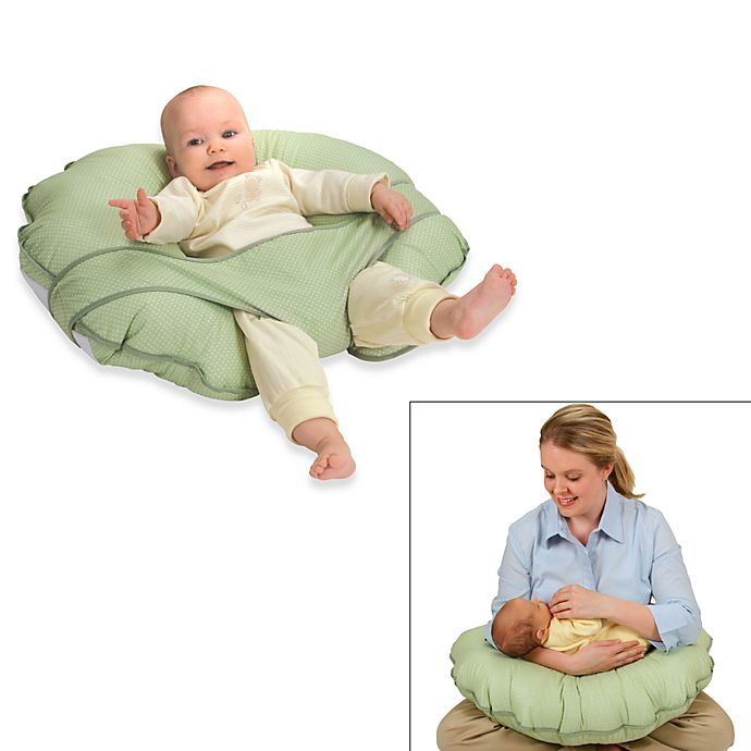 Alternate image 1 for Leachco® Cuddle-U Original Nursing Pillow and Support System in Green Dot