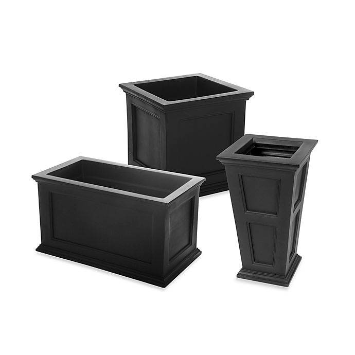 Mayne Fairfield Patio Planter In Black Bed Bath And