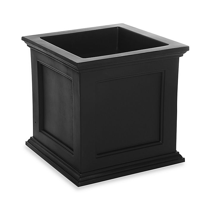 Alternate image 1 for Mayne Fairfield 20-Inch x 20-Inch Patio Planter in Black