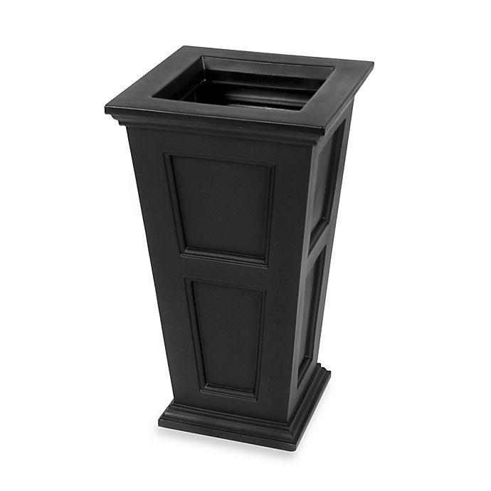 Alternate image 1 for Mayne Fairfield 28.5-Inch x 16-Inch Tall Patio Planter in Black