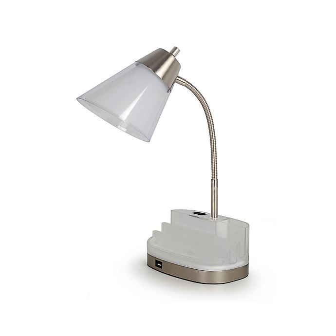 Alternate image 1 for Equip Your Space Tablet Organizer Desk Lamp