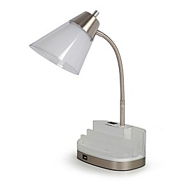 Equip Your Space Table Organizer Desk Lamp with CFL Bulb