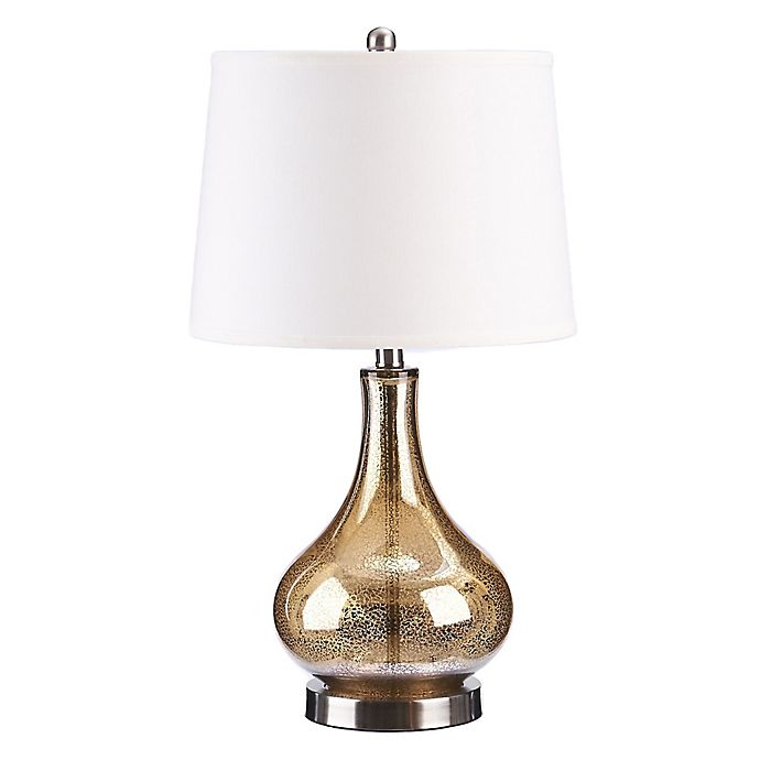 Alternate image 1 for Catalina Antique Glass LED Table Lamp in Gold