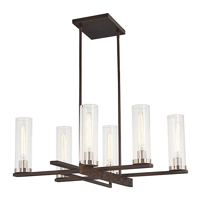 Alternate image 1 for Minka Lavery® Maddox Roe 6-Light Chandelier in Iron Ore