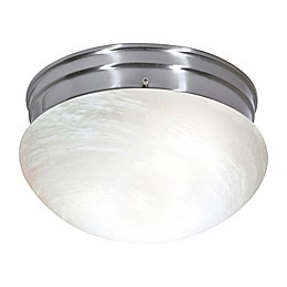 Filament Design 3-Light Flush Mount Light Fixture in Brushed Nickel