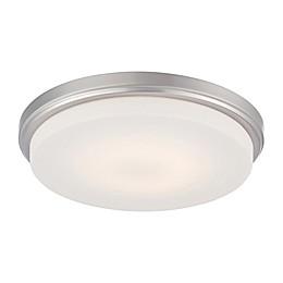 Filament Design 1-Light LED Flush Mount Light Fixture in Brushed Nickel