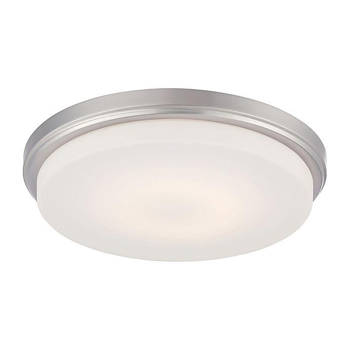 Alternate image 1 for Filament Design 1-Light LED Flush Mount Light Fixture in Brushed Nickel