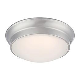 Filament Design 1-Light LED 12-Inch Flush Mount Light Fixture in Brushed Nickel