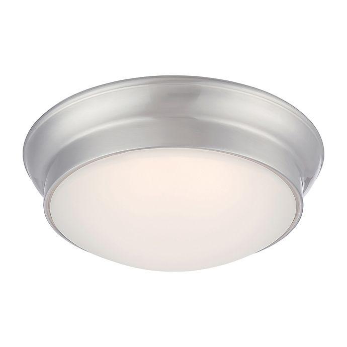 Alternate image 1 for Filament Design 1-Light LED 12-Inch Flush Mount Light Fixture in Brushed Nickel