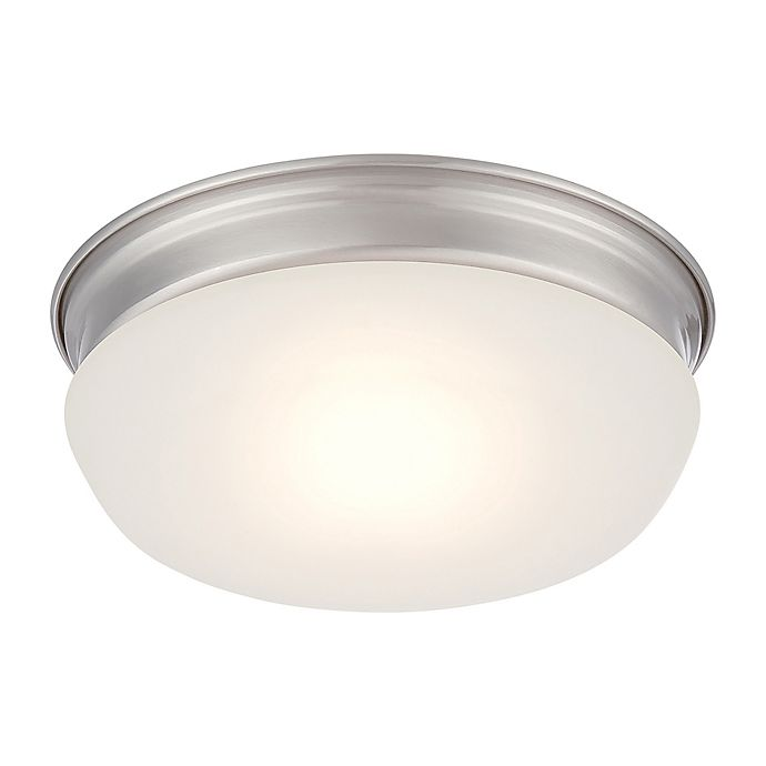 Alternate image 1 for Filament Design 1-Light LED 7.88-Inch Flush Mount Light Fixture in Brushed Nickel