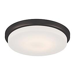 Filament Design Mahogany 1-Light Flush Mount Ceiling Fixture in Bronze