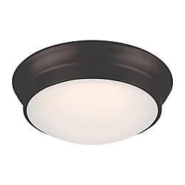 Filament Design 12-Inch 1-Light LED Flush Mount Fixture in Mahogany
