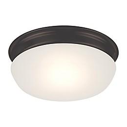 Filament Design 7.88-Inch 1-Light LED Flush Mount Fixture in Mahogany